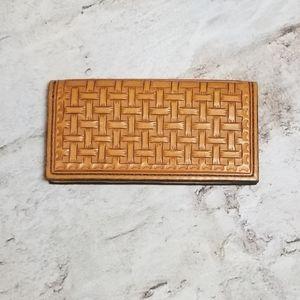 Boho Stamped Leather Wallet